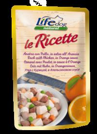 lifedog-ricette-anatra-con-pollo-in-salsa-allarancia